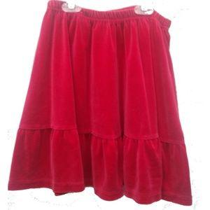 Hanna Anderssen Red Velour Skirt Holiday 140/ 10
